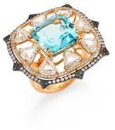 Ivy Diamond & Blue Spinel Ring