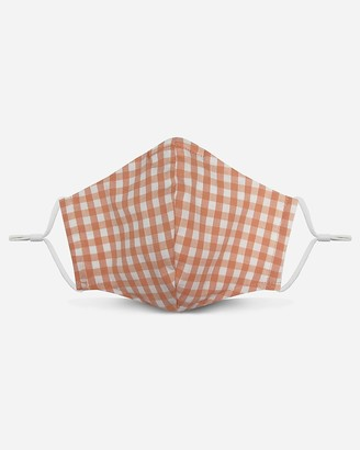 Express Pocket Square Clothing Peach Gingham Unity Face Mask