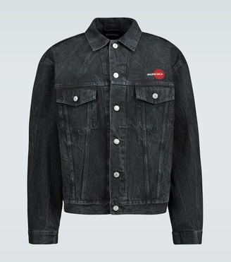 Balenciaga Uniform logo denim jacket