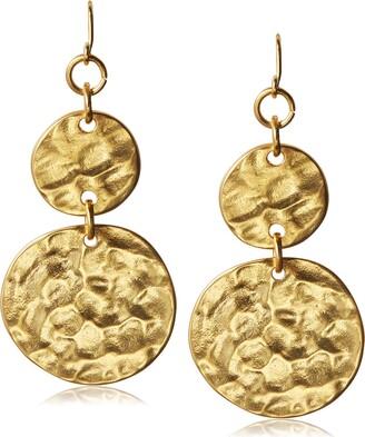Kenneth Jay Lane Double Coin Drop Earrings