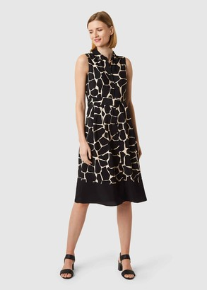 Hobbs Suzanna Animal Fit And Flare Dress
