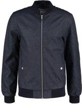 Tom Tailor Denim Faux Leather Jacket Night Sky Blue