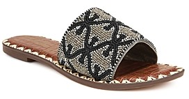 Sam Edelman Women's Gunner Beaded Slide Sandals