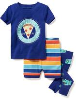 "Old Navy ""Official Pizza Inspector"" 3-Piece Sleep Set for Toddler & Baby"