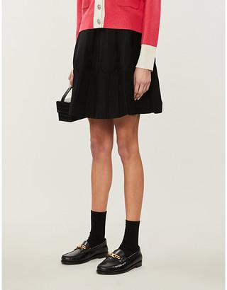 Claudie Pierlot Manillee high-waist stretch-knit skirt