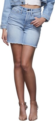 Good American A-Line Denim Shorts