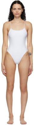 JADE SWIM White Trophy One-Piece Swimsuit