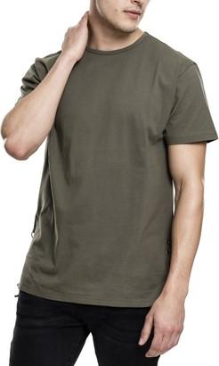Urban Classics Men's Lace Up Long Tee T-Shirt