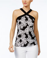 INC International Concepts Printed Halter Top, Created for Macy's