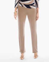 Chico's Travelers Classic No Tummy Pant in Antique Beige