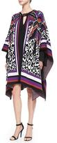 Just Cavalli 3/4-Sleeve Printed Poncho
