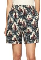 Burberry Castle-Print Silk Shorts