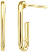 Ron Hami Yellow Gold Paperclip Huggie Earrings