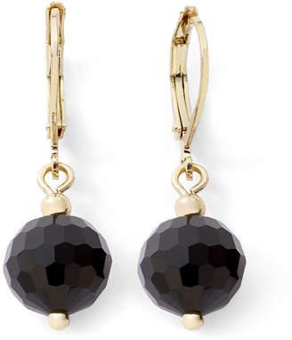 MONET JEWELRY Monet Gold-Tone Black Bead Drop Earrings