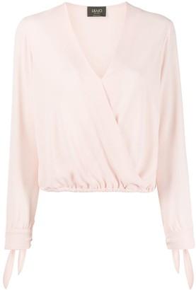 Liu Jo V-neck tie cuff blouse
