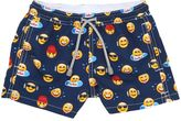 MC2 Saint Barth Emoticon Print Nylon Swim Shorts