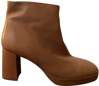 Miista \N Brown Leather Ankle boots