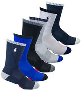 Polo Ralph Lauren Six-Pack Athletic American Crew Socks Set