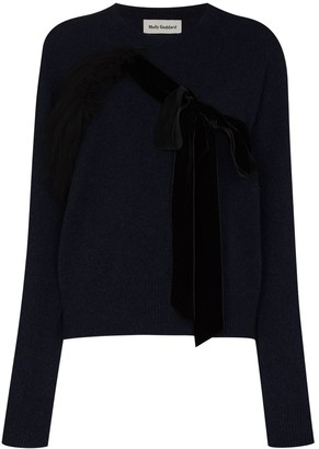 Molly Goddard Bow Detail Fine-Knit Jumper