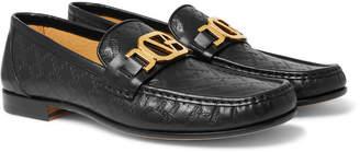 Versace Horsebit Logo-Embossed Leather Loafers