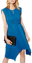 Karen Millen Embellished Eyelet Midi Dress, Blue