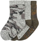 Joe Fresh Baby Boys' 3 Pack Socks, Grey (Size 0-12)