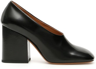 Marni High Wedge Block Heeled Pumps