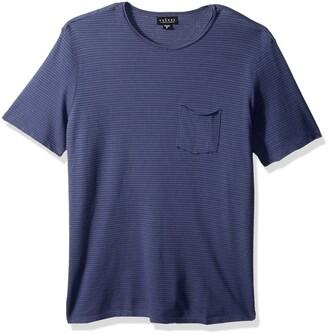 Velvet by Graham & Spencer Men Stripe Pique Tee Shirt