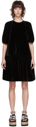 Cecilie Bahnsen Black Velvet Alexa Dress