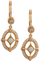 Penny Preville 18k Rose Gold Diamond Oval Drop Earrings