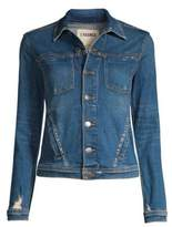 L'Agence Celine Distressed Denim Jacket