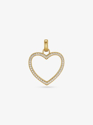 Michael Kors 14K Gold-Plated Sterling Silver Pave Oversized Heart Charm