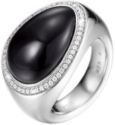 Esprit Women's Ring 925 Sterling Silver Rhodium Plated Glass Zirconia Nyxia Black White