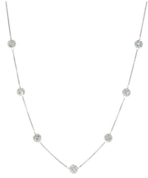 """Giani Bernini Crystal Ball 18"""" Statement Necklace in Sterling Silver, Created for Macy's"""