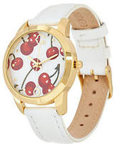 C. Wonder Round Fruit Dial Leather Strap Watch