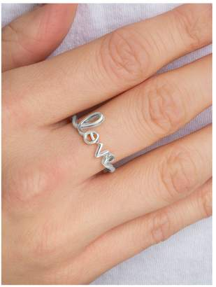 The Love Silver Collection Sterling Silver 'Love' Ring