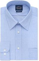 Eagle Men's Slim-Fit Non-Iron Blue Crystal Micro-Stripe Dress Shirt