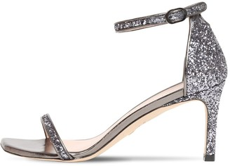 Stuart Weitzman 75mm Amelina Glittered Sandals