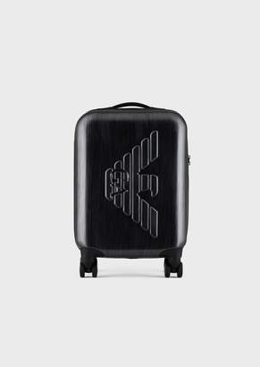 Emporio Armani Suitcase In Abs With Embossed Logo And Tsa Closure