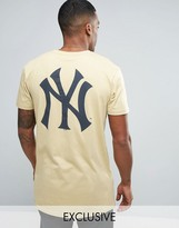 Majestic New York Yankees Longline T-Shirt Exclusive to ASOS