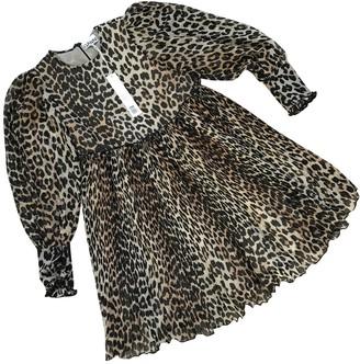 Ganni Spring Summer 2020 Brown Polyester Dresses