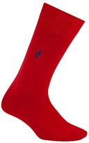 Polo Ralph Lauren Mercerised Cotton Blend Socks, Red