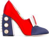 Gucci studded pumps - women - Leather/Satin Ribbon - 37