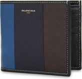Balenciaga Bazar stripe leather wallet