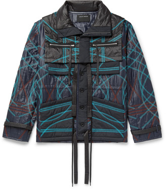 Craig Green Embroidered Quilted Nylon Jacket With Removable Collar