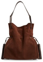 AllSaints 'Freedom' Suede Hobo - Brown