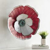 Pier 1 Imports Red Galvanized Flower Wall Decor