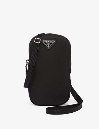 Prada Leather and recycled-nylon mini cross-body bag