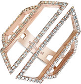 Effy Geo by Diamond Openwork Ring (5/8 ct. t.w.) in 14k Rose Gold