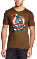 Logoshirt Men's Marvel - Captain America Crew Neck Short Sleeve T-Shirt